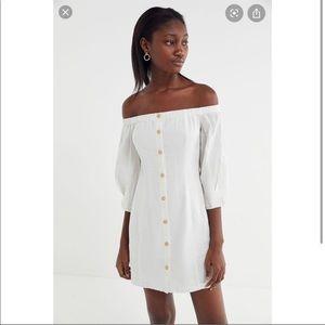 UO Charlie line off shoulder dress